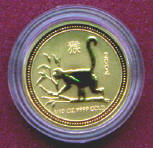2004 Year of the MONKEY - Australia lunar gold coin series