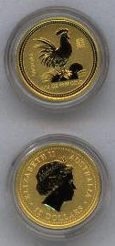2005 Year of the ROOSTER - Australia lunar gold coins
