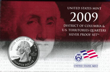 2009s Silver Quarters 6 coin proof set US mint item SV1