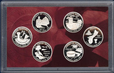 Coin holder with 2009s Silver Quarters proof set US mint item SV1
