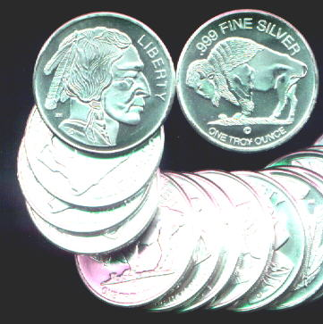Bars And Silver Rounds 1 Oz Solid Silver One Troy Ounce