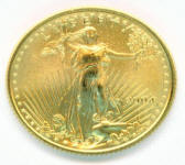 Brilliant Uncirculated Fourth ounce American Gold Eagle coin