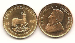 fourth ounce gold krugerrand coin